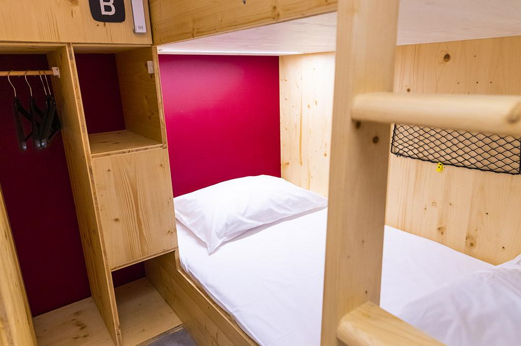 Chambre cabine 4 personnes - 4 lits superposés